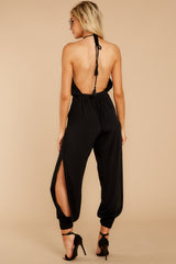 10 Close Enough Black Jumpsuit at reddressboutique.com