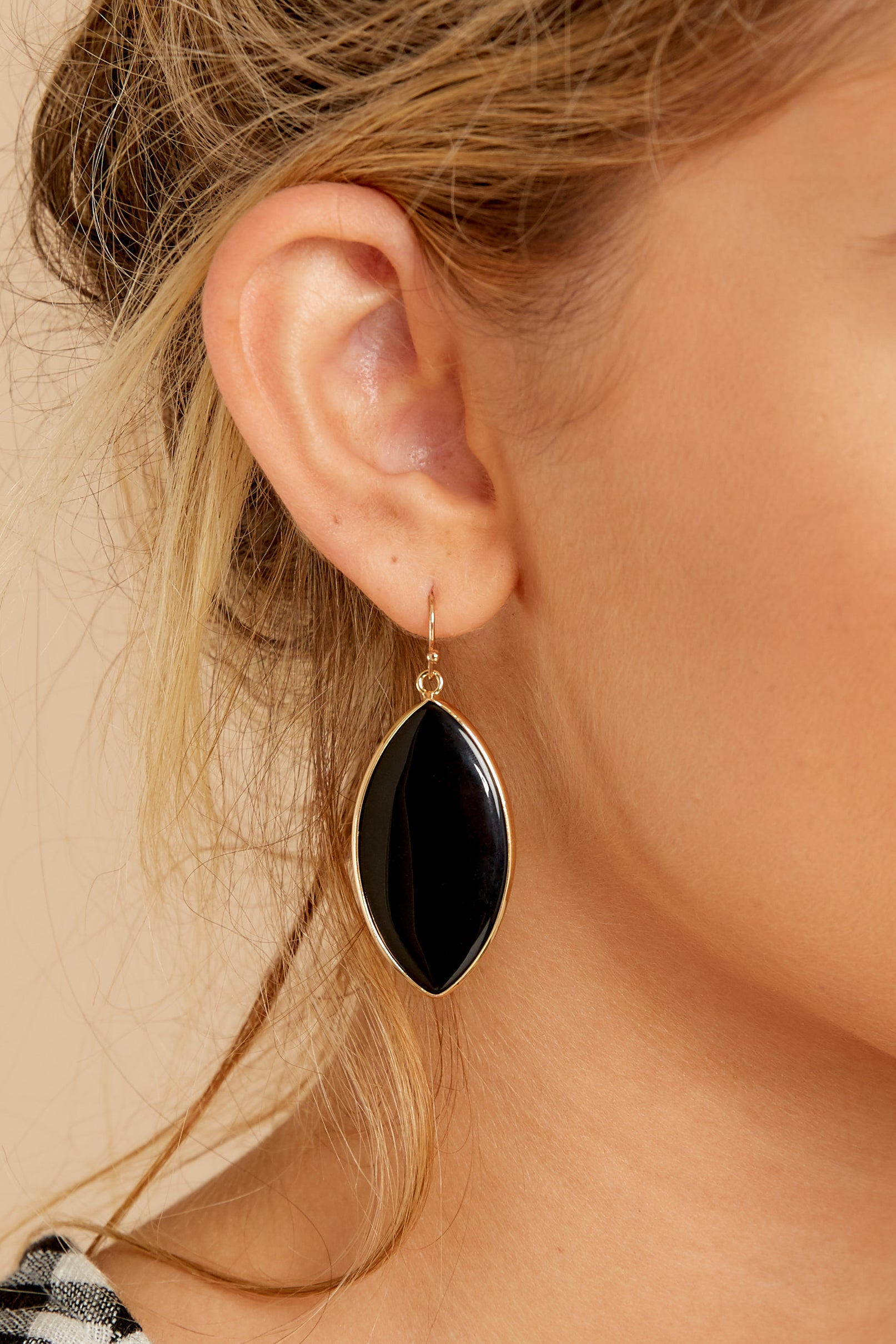1 Even If Black Earrings at reddressboutique.com