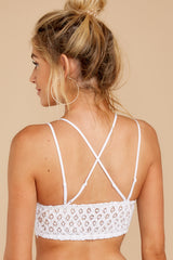 6 Safe Secrets White Lace Bralette at reddressboutique.com