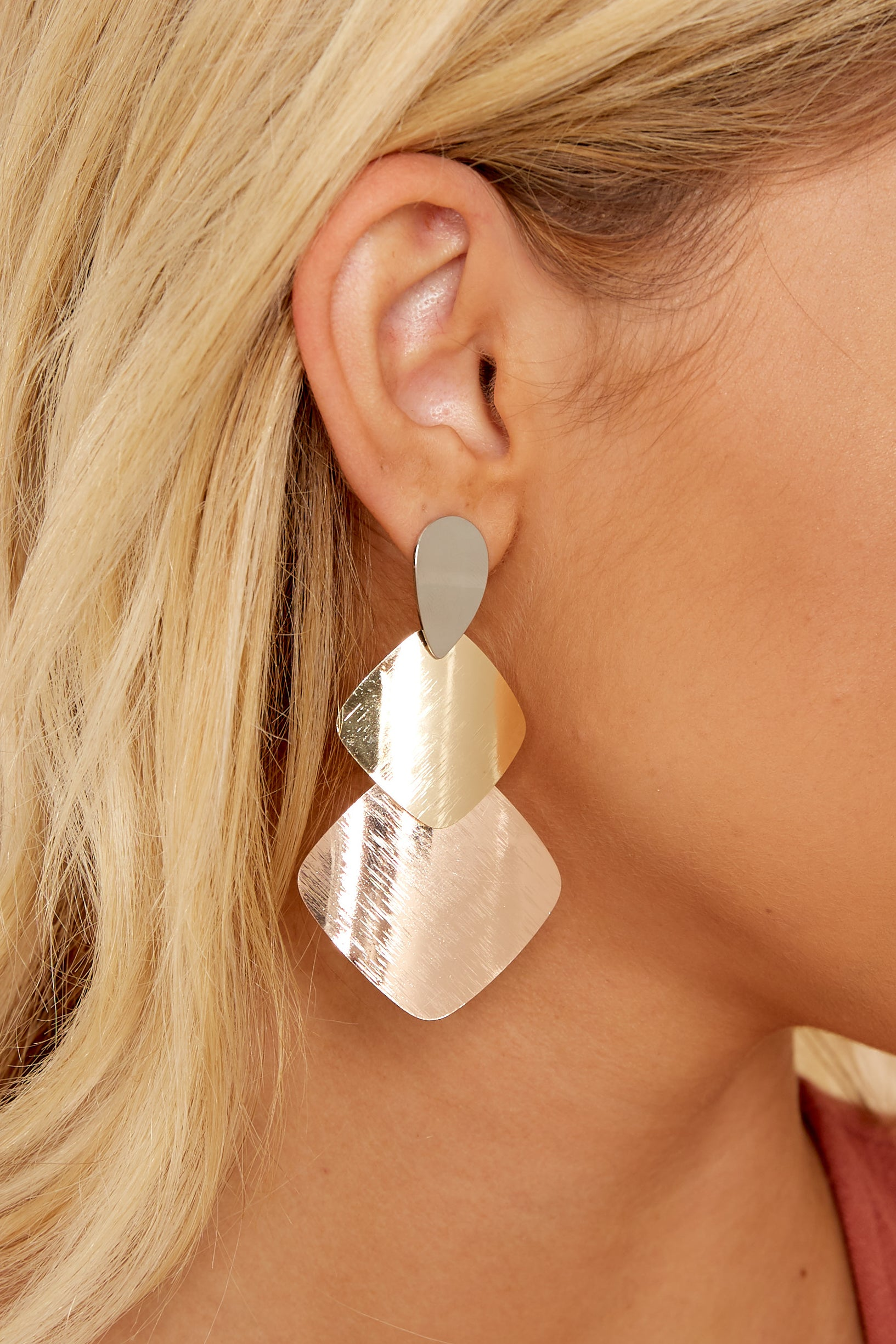 2 Last Call Gold Earrings at reddress.com