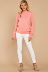 2 Wandering Through Winter Light Pink Sweater at reddressboutique.com