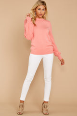 1 Wandering Through Winter Light Pink Sweater at reddressboutique.com