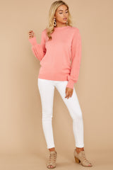 3 Wandering Through Winter Light Pink Sweater at reddressboutique.com