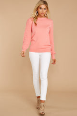 4 Wandering Through Winter Light Pink Sweater at reddressboutique.com