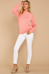 5 Wandering Through Winter Light Pink Sweater at reddressboutique.com