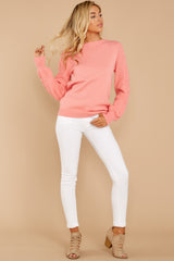 6 Wandering Through Winter Light Pink Sweater at reddressboutique.com