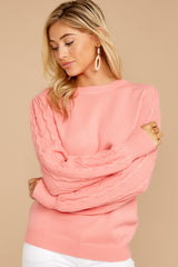 8 Wandering Through Winter Light Pink Sweater at reddressboutique.com
