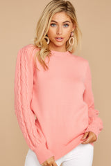 9 Wandering Through Winter Light Pink Sweater at reddressboutique.com