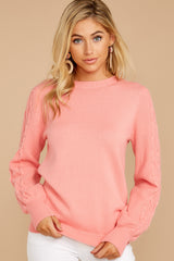 10 Wandering Through Winter Light Pink Sweater at reddressboutique.com