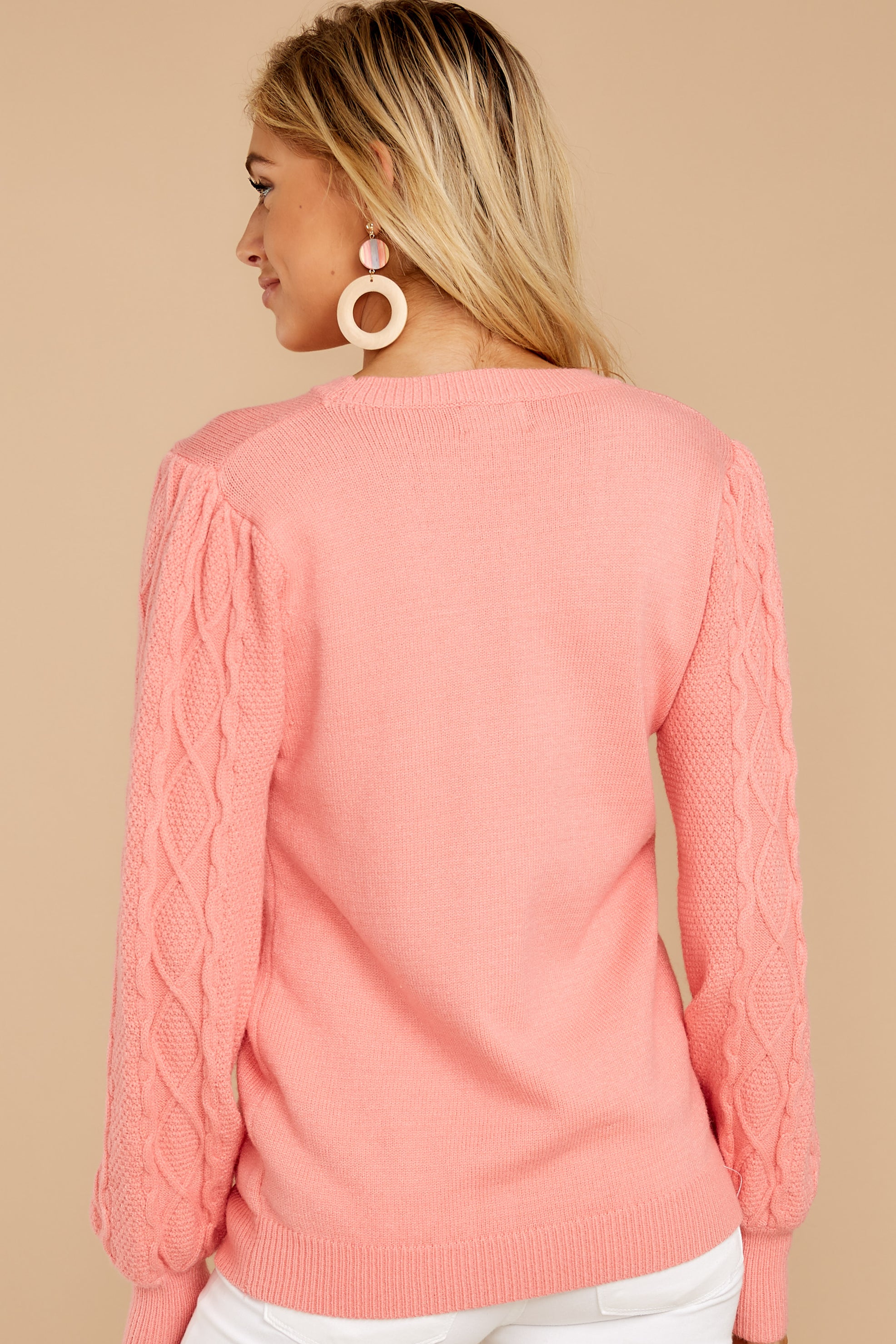 14 Wandering Through Winter Light Pink Sweater at reddressboutique.com