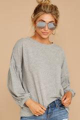 6 Redesigning Woman Heather Grey Top at reddressboutique.com