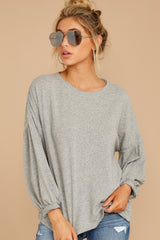 7 Redesigning Woman Heather Grey Top at reddressboutique.com
