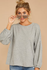 8 Redesigning Woman Heather Grey Top at reddressboutique.com