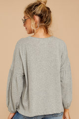 9 Redesigning Woman Heather Grey Top at reddressboutique.com