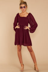 2 In The Vineyards Merlot Dress at reddress.com