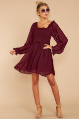 3 In The Vineyards Merlot Dress at reddress.com