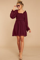 4 In The Vineyards Merlot Dress at reddress.com