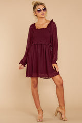 5 In The Vineyards Merlot Dress at reddress.com