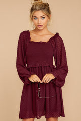 6 In The Vineyards Merlot Dress at reddress.com