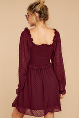 10 In The Vineyards Merlot Dress at reddress.com