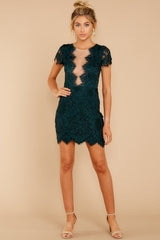 2 Some Nights Dark Emerald Lace Dress at reddressboutique.com