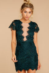 5 Some Nights Dark Emerald Lace Dress at reddressboutique.com