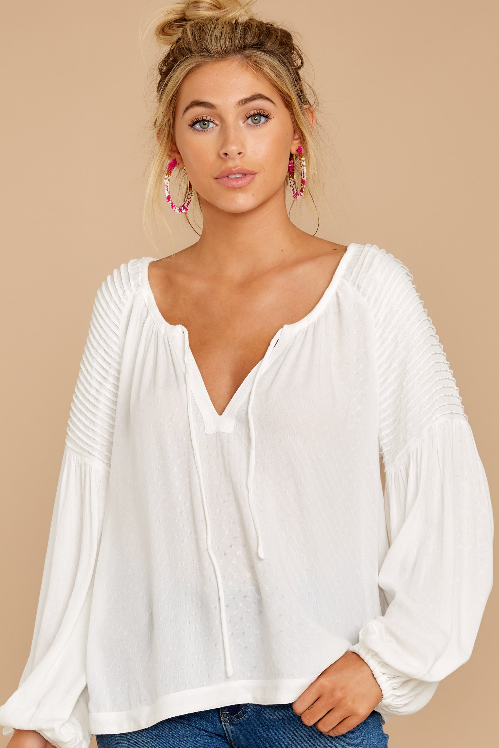 4 Simple Choice White Top at reddressboutique.com