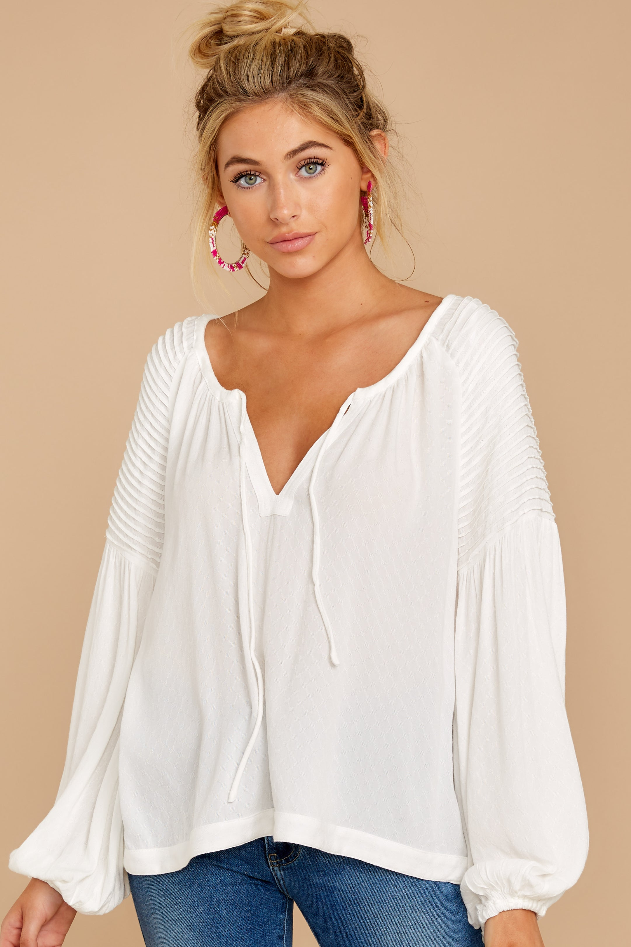 5 Simple Choice White Top at reddressboutique.com