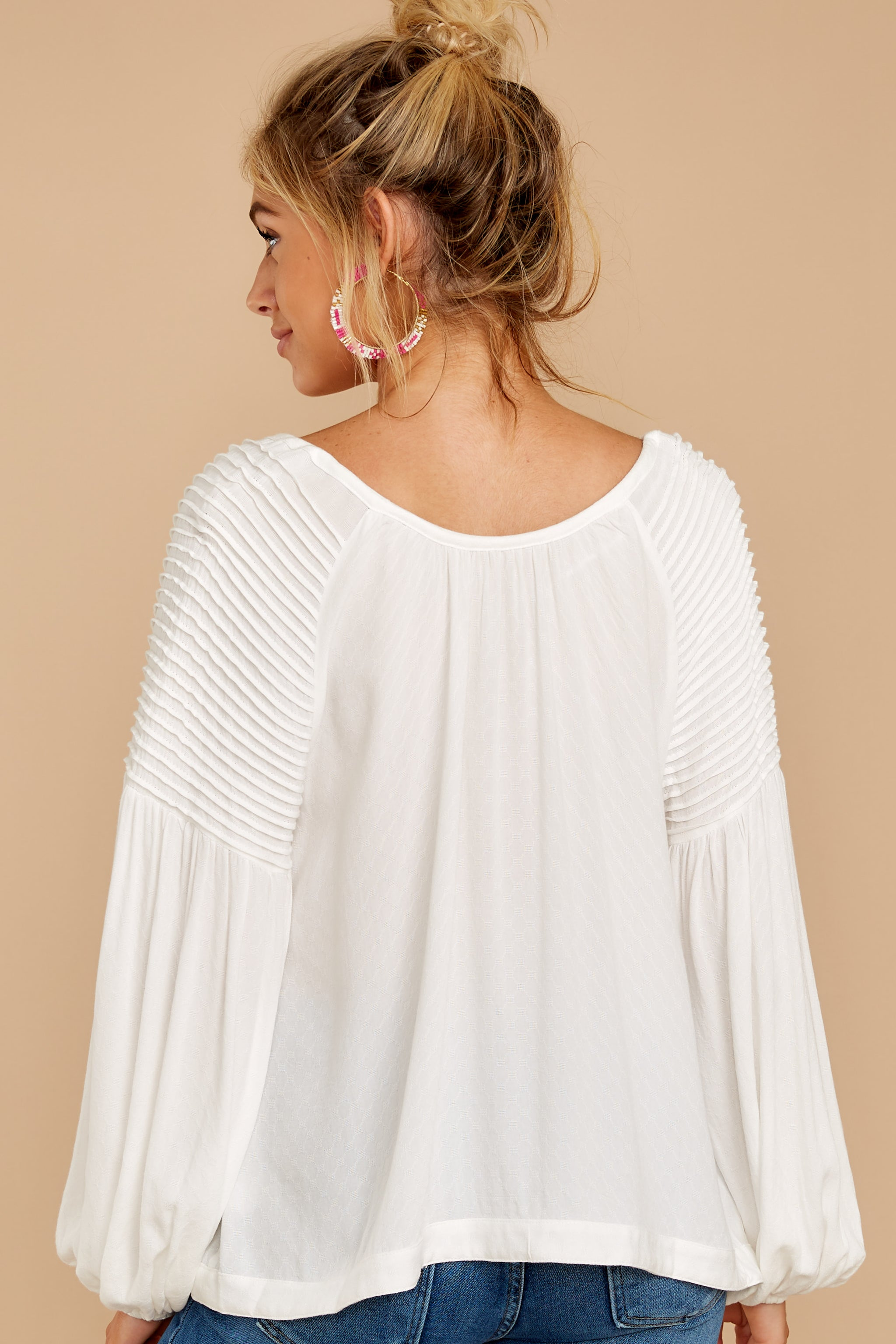 9 Simple Choice White Top at reddressboutique.com