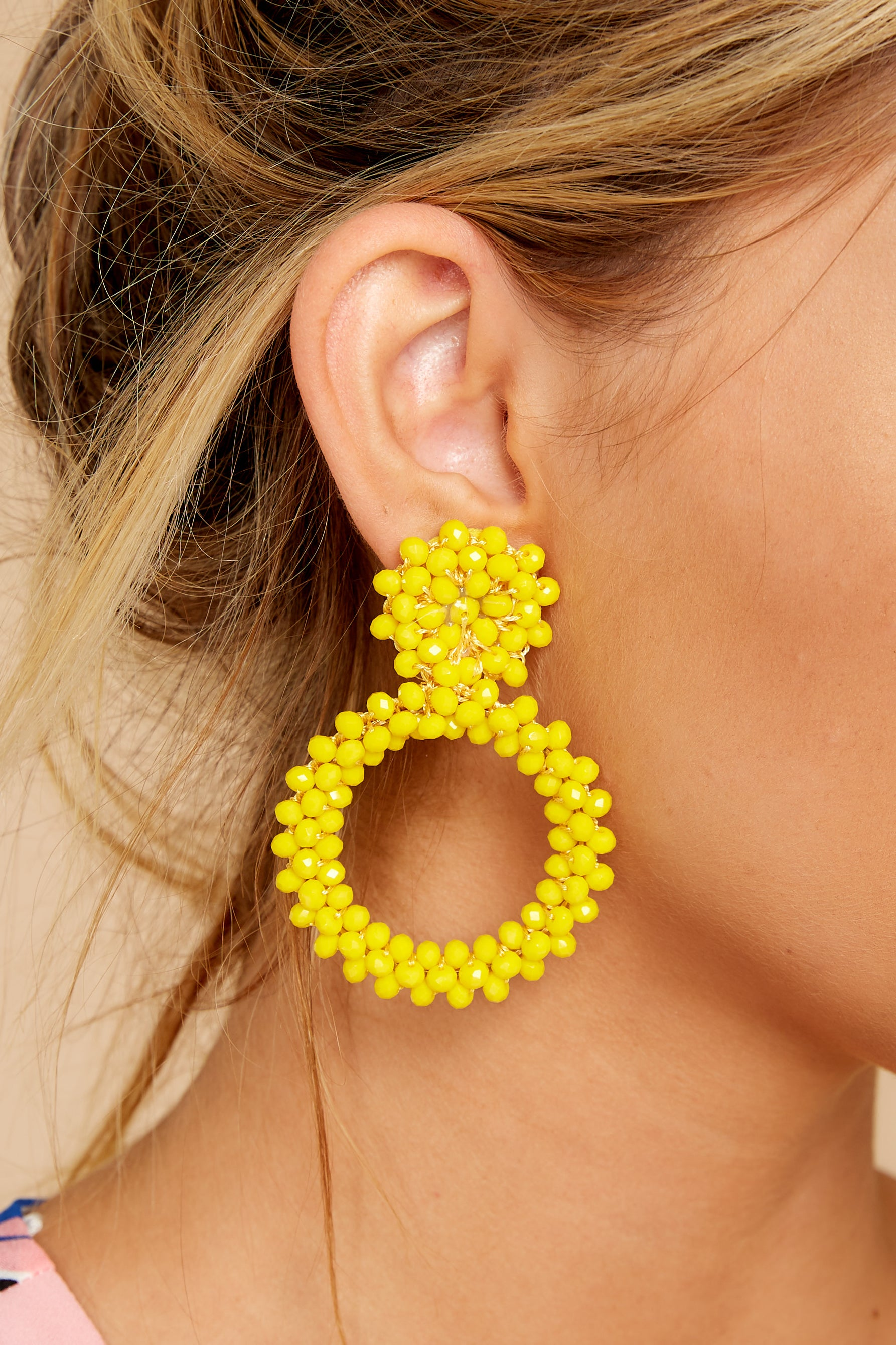 1 Multifaceted Charm Yellow Earrings at reddress.com