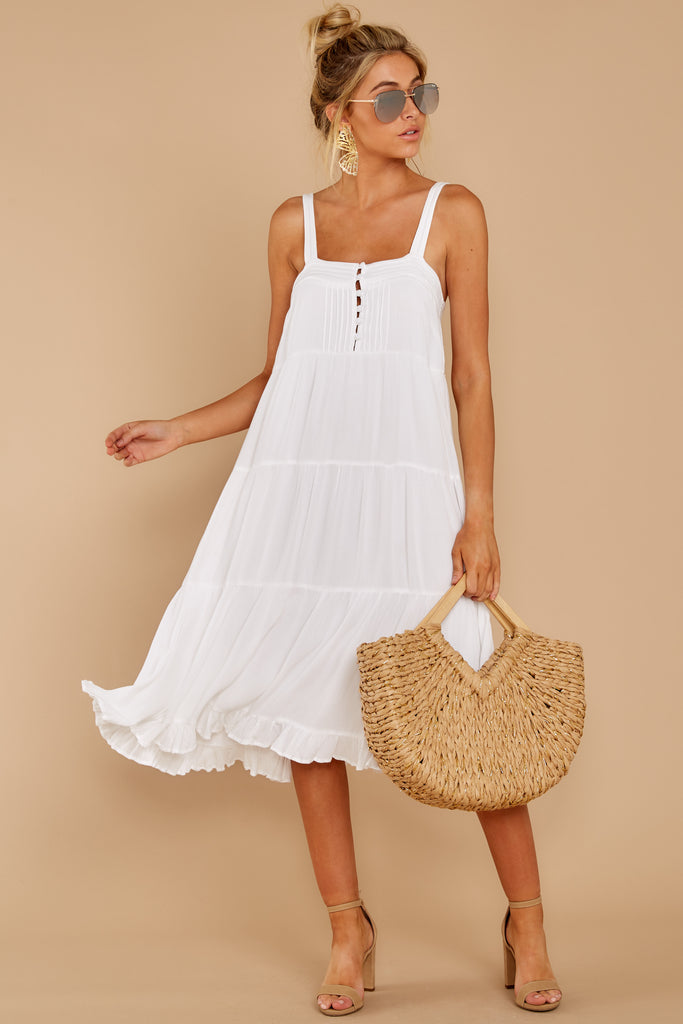 1 Keep A Secret White Romper at reddressboutique.com