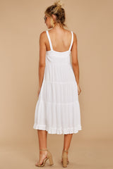 Thinking Out Loud White Midi Dress