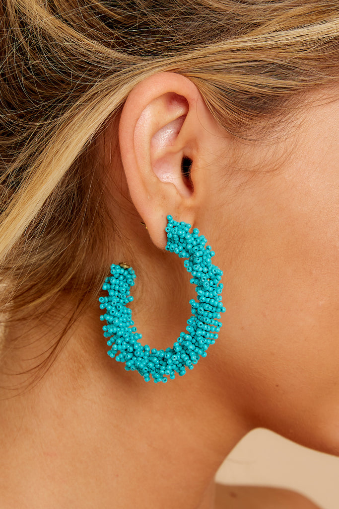 Charismatic Vibes Turquoise Statement Earrings