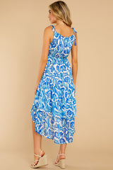 7 You'll See Blue Multi Print High-Low Dress at reddress.com