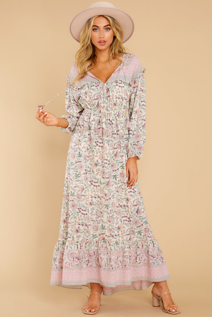 1 Let Your Guard Down Rose Multi Print Maxi Dress at reddress.com