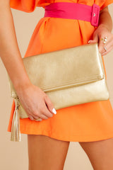 1 Sealed Secrets Gold Clutch at reddress.com