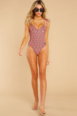 3 Olympia Ditsy Floral One Piece Swimsuit at reddress.com