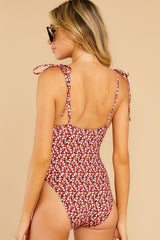 7 Olympia Ditsy Floral One Piece Swimsuit at reddress.com