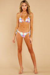 3 Iris Tropical Plaid Bikini Bottom at reddress.com