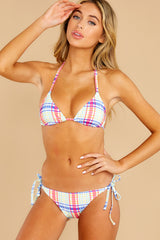 4 Iris Tropical Plaid Bikini Bottom at reddress.com
