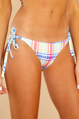 1 Iris Tropical Plaid Bikini Bottom at reddress.com