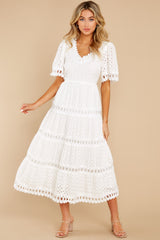 5 Couldn't Help It Off White Eyelet Maxi Dress at reddress.com