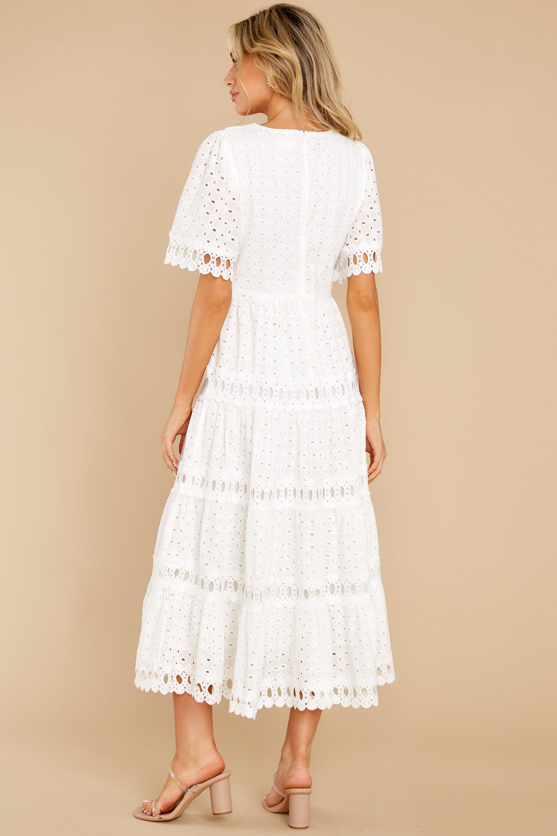7 Couldn't Help It Off White Eyelet Maxi Dress at reddress.com