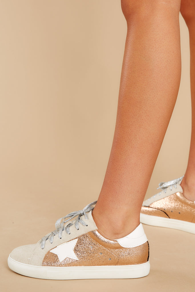 1 Getting Better Rose Gold Sneakers at reddress.com
