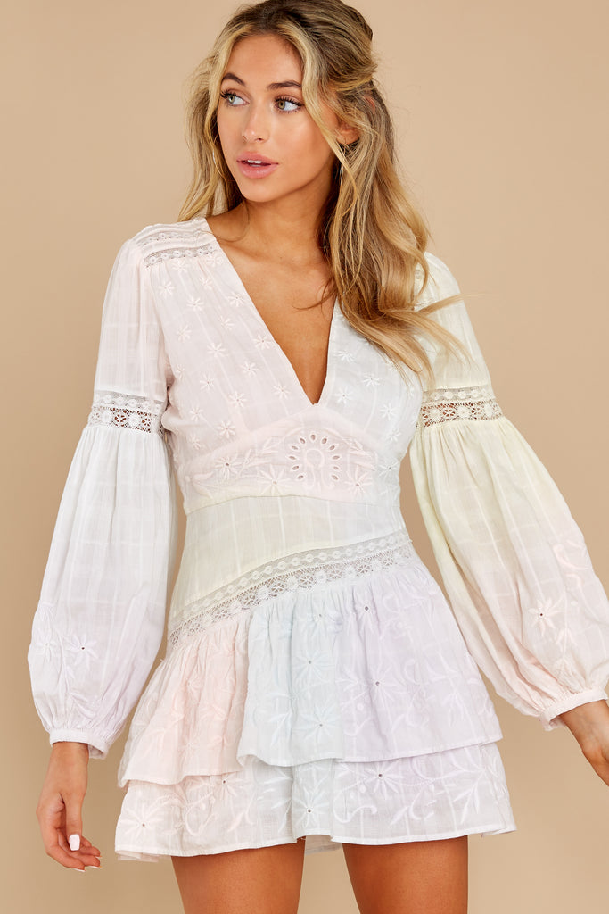 1 Talk About Love Cream Lace Dress at reddress.com