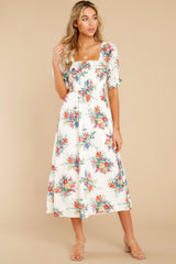 6 Sometime After Ivory Floral Print Maxi Dress at reddress.com