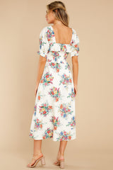 7 Sometime After Ivory Floral Print Maxi Dress at reddress.com