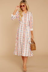 2 Bypass The Mainstream Pink Multi Print Midi Dress at reddressboutique.com