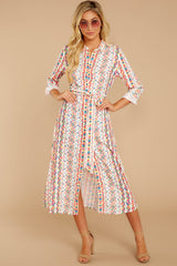 6 Bypass The Mainstream Pink Multi Print Midi Dress at reddressboutique.com
