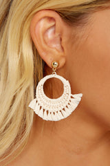 1 Brush With Fate Ivory Earrings at reddress.com